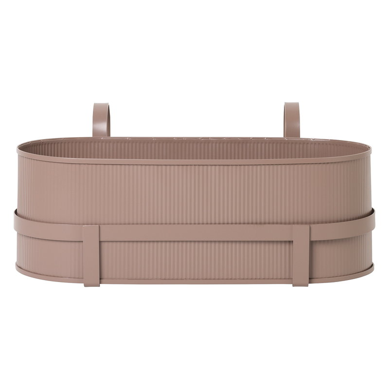 Ferm Living Bau balcony box, dusty rose