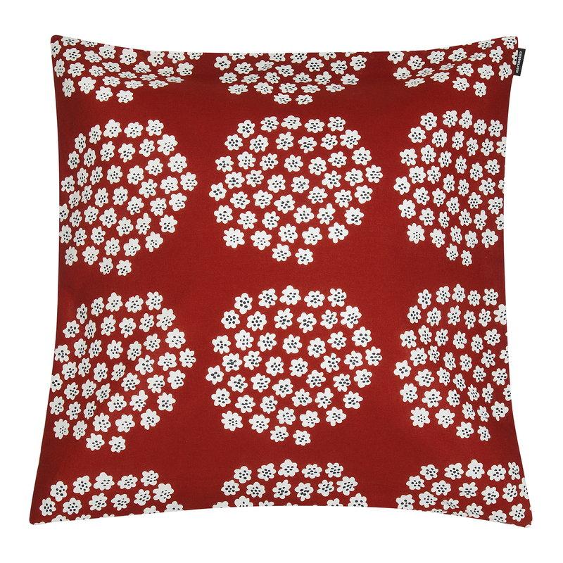 Marimekko Puketti cushion cover 45 x 45 cm, red - dark blue - white
