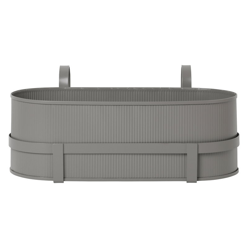 Ferm Living Bau balcony box, warm grey