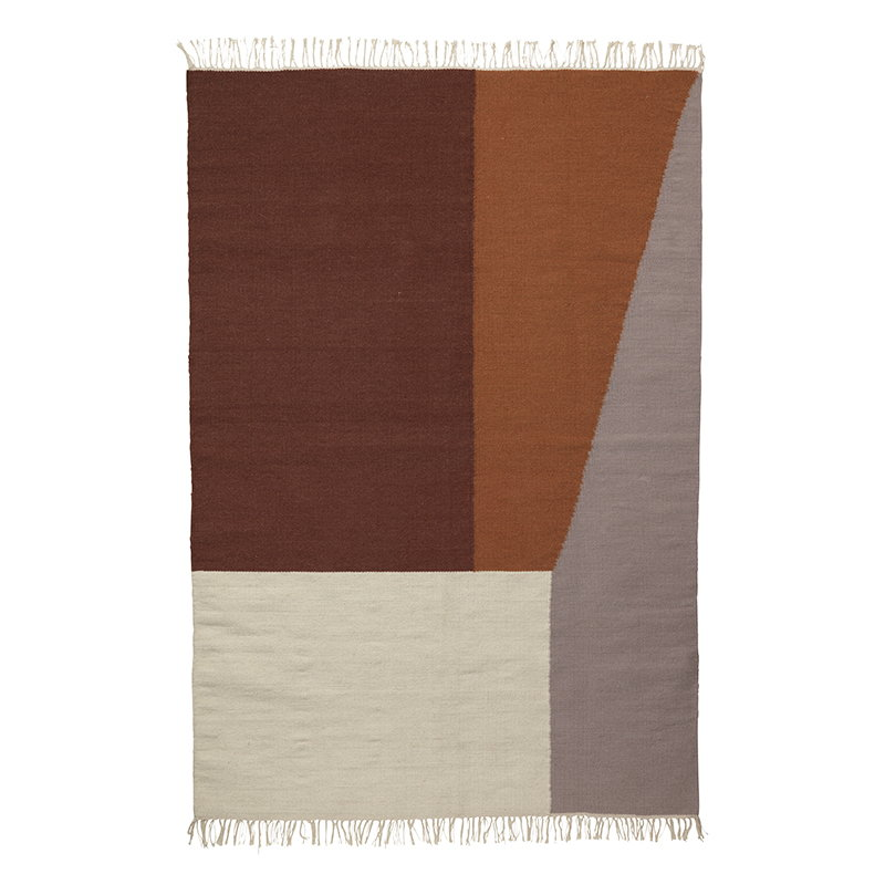 Ferm Living Kelim matto, Borders, 140 x 200 cm