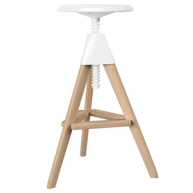 Magis Tom bar stool, beech - white
