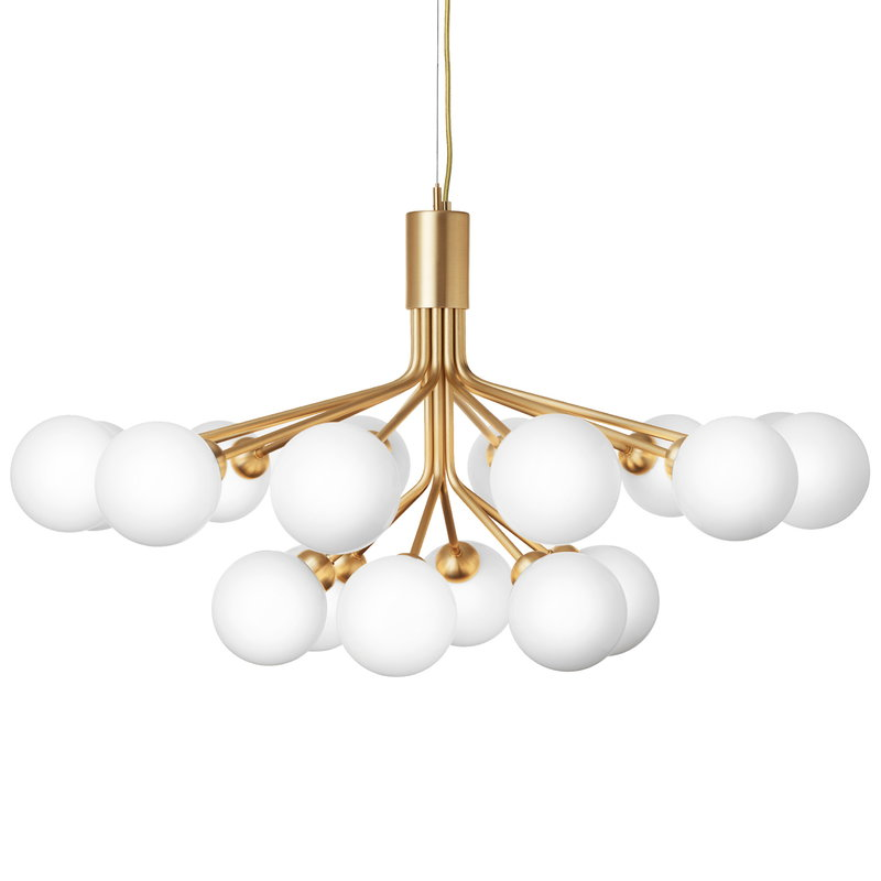Nuura Apiales 18 pendant, brushed brass