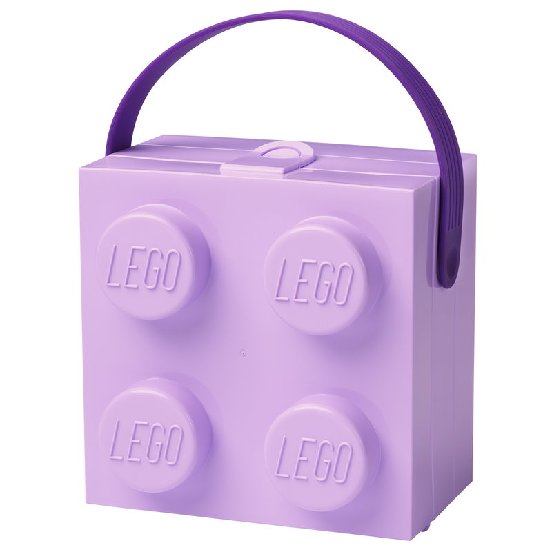 Room Copenhagen Lego lunch box with handle, lavender