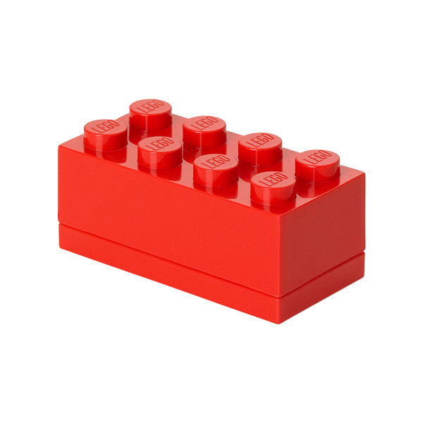 Room Copenhagen Lego mini box 8, red