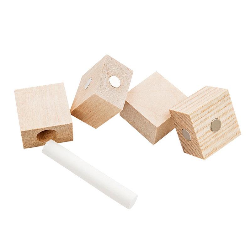 Kotonadesign Wooden magnets, set of 4