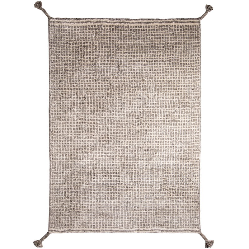 Woodnotes Grid rug, white - light grey