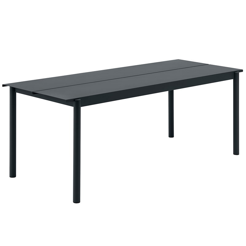 Muuto Linear Steel table 200 x 75 cm, black