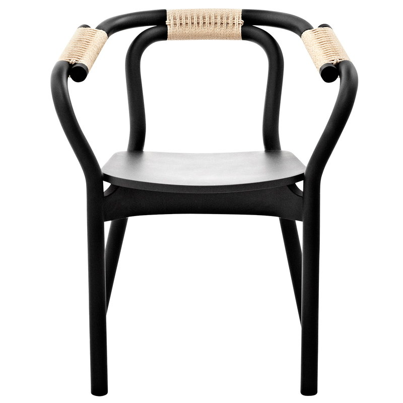 Normann Copenhagen Knot chair, black - natural