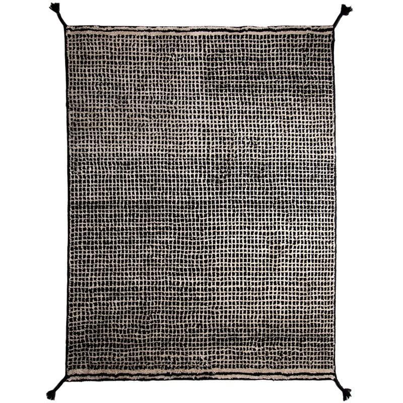 Woodnotes Tappeto Grid, bianco - nero