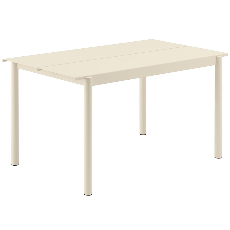 Muuto Linear Steel table 140 x 75 cm, white