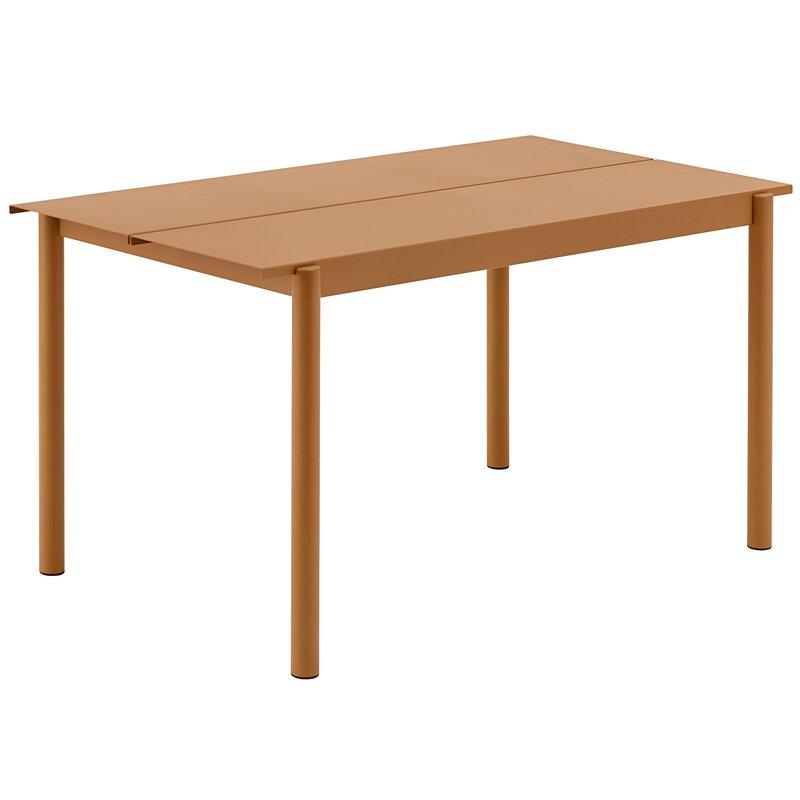 Muuto Linear Steel table 140 x 75 cm, burnt orange