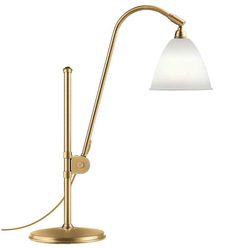 Gubi Bestlite BL1 table lamp, brass - bone china