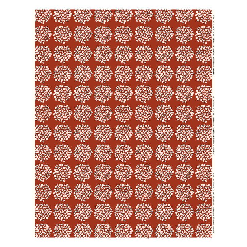 Marimekko Puketti fabric, red - dark blue - white