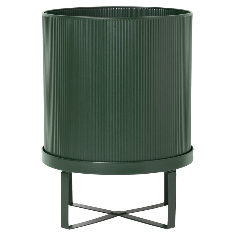 Ferm Living Bau pot, large, dark green