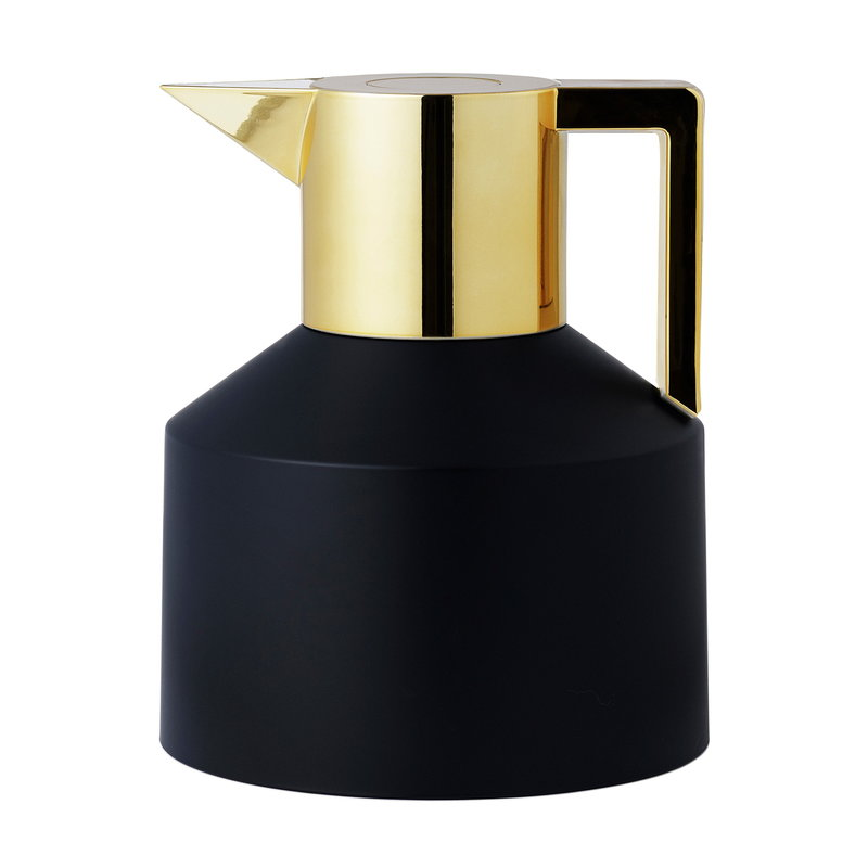 Normann Copenhagen Geo vacuum jug, black - gold