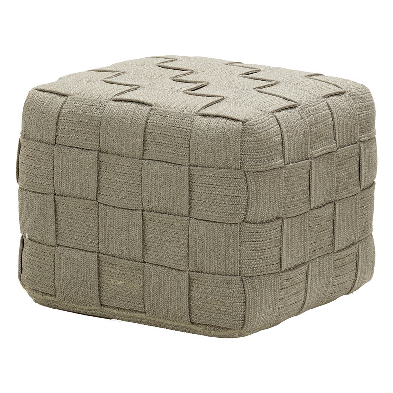 Cane-line Cube footstool, taupe