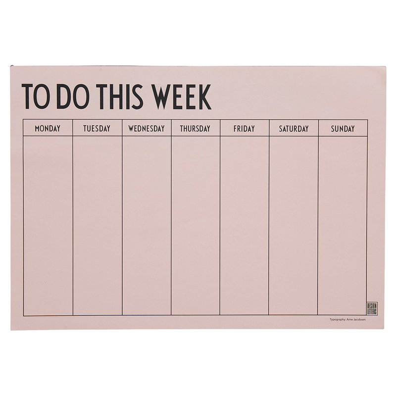 Design Letters Weekly Planner, rosa