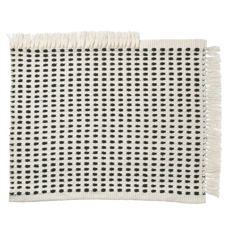 Ferm Living Way mat, 50 x 70, off white - dark blue