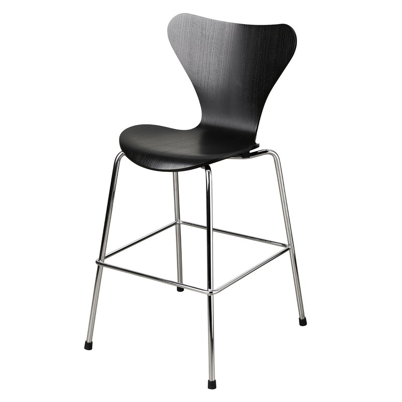 Fritz Hansen AJ Series 7 Junior chair, black - chrome