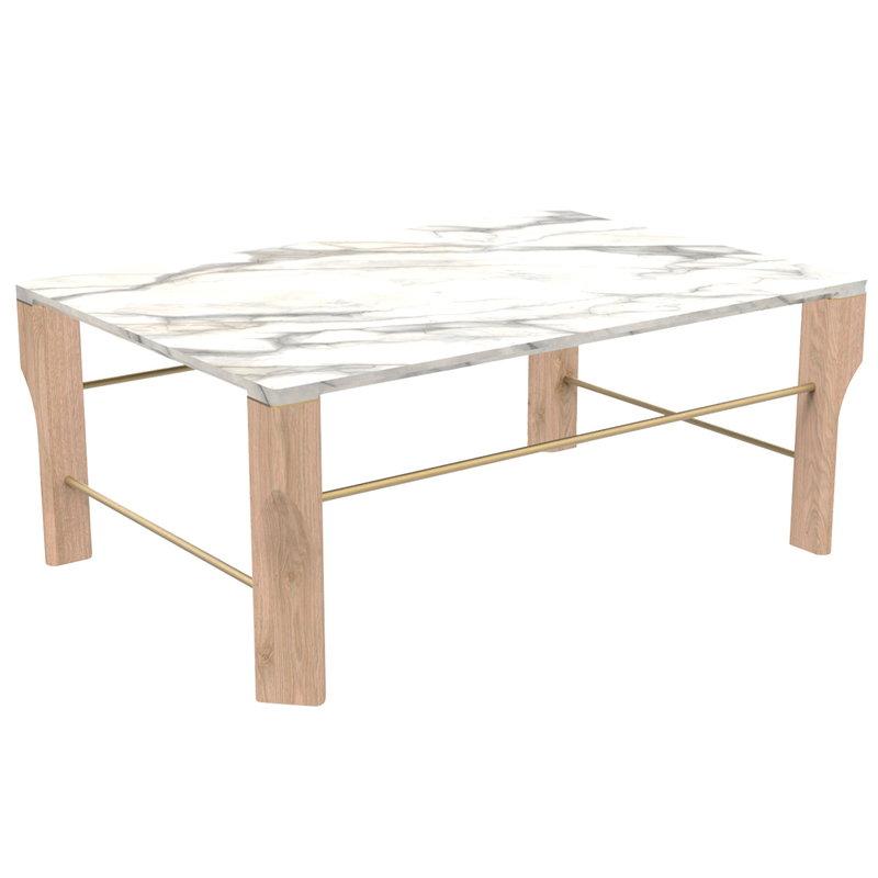 Harto Josephine sohvapöytä, tammi - marmori