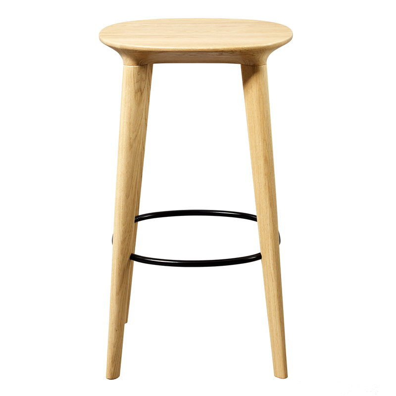 Minus Tio Audrey bar stool 65 cm, lacquered oak - black