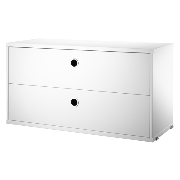 String String chest with 2 drawers, 78 x 30 cm, white