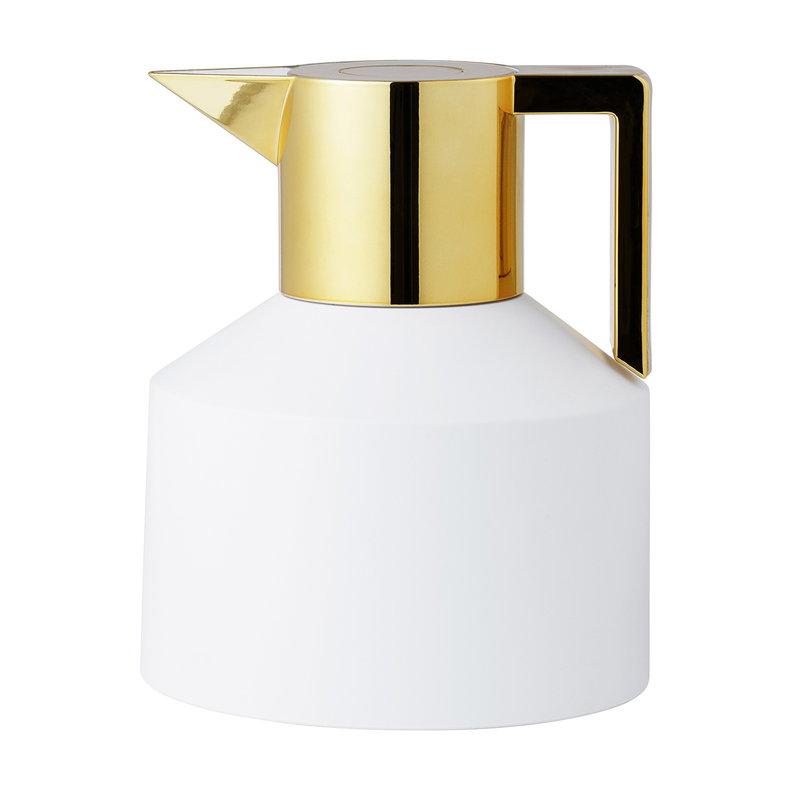 Normann Copenhagen Geo termoskannu, valkoinen - kulta