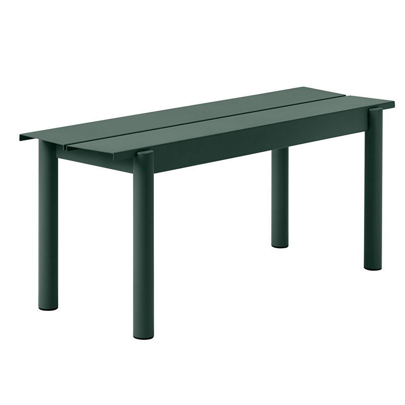 Muuto Linear Steel bench 110 cm, dark green