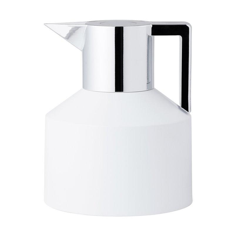 Normann Copenhagen Geo vacuum jug, white - silver