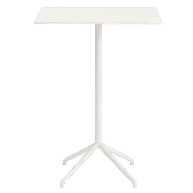 Muuto Tavolo da bar Still Cafe 75 x 65 cm, alt. 105 cm, bianco