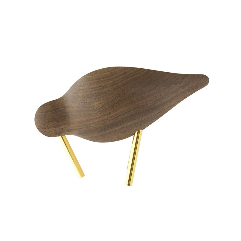 Normann Copenhagen Shorebird, small, walnut - brass