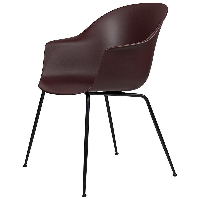 Gubi Bat chair, dark pink - black base