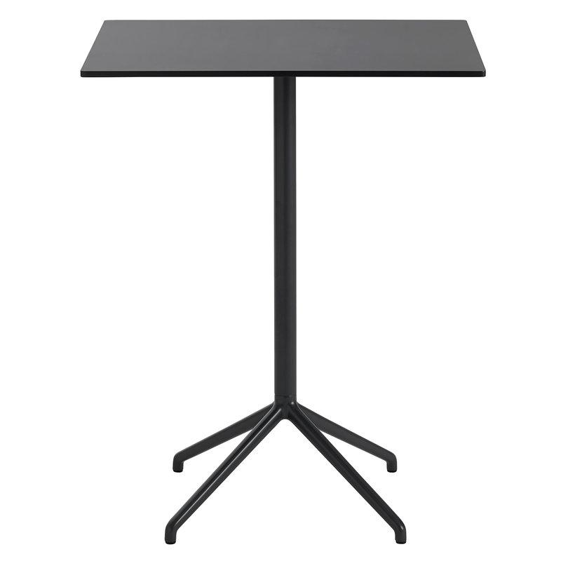Muuto Tavolo da bar Still Cafe 75 x 65 cm, alt. 95 cm, nero