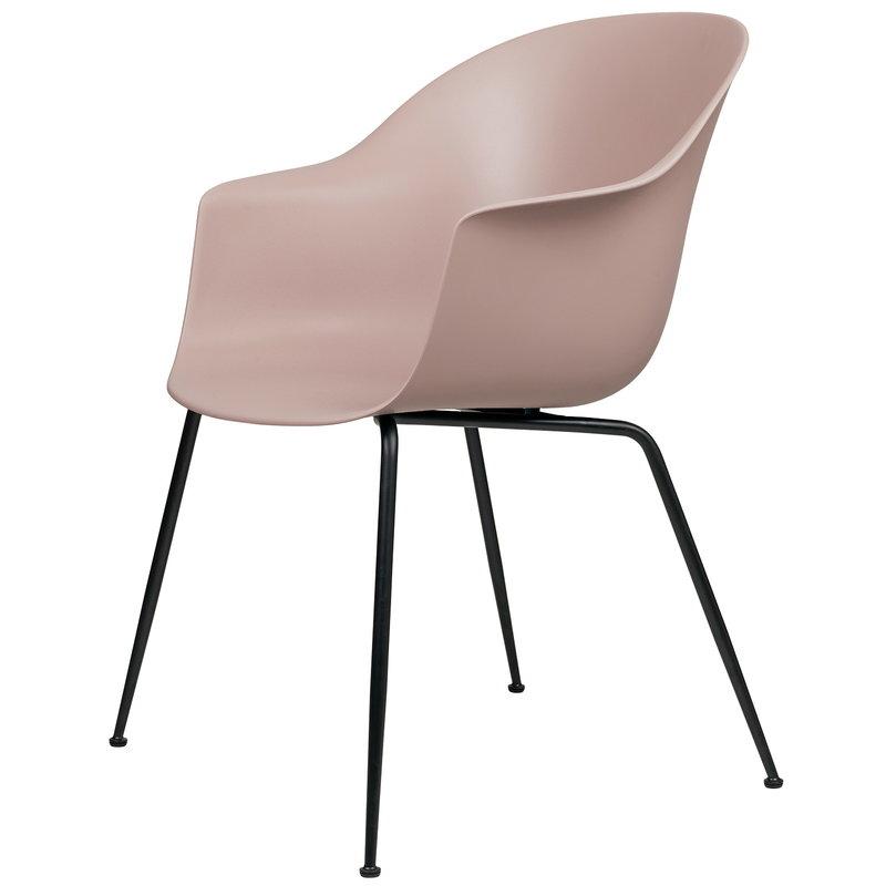 Gubi Bat tuoli, sweet pink - mustat jalat