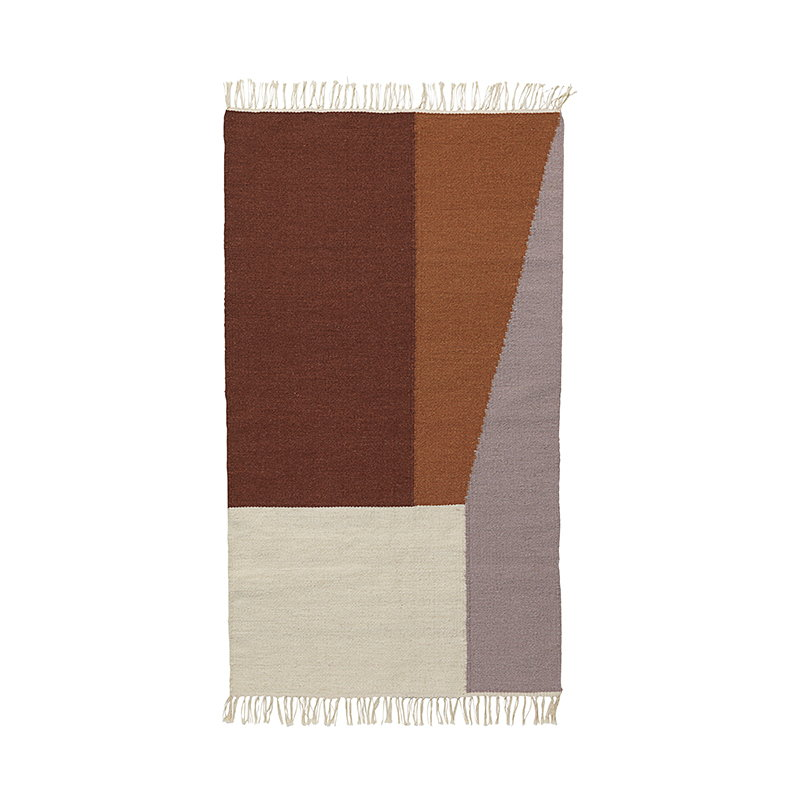 Ferm Living Kelim matto, Borders, 80 x 140 cm