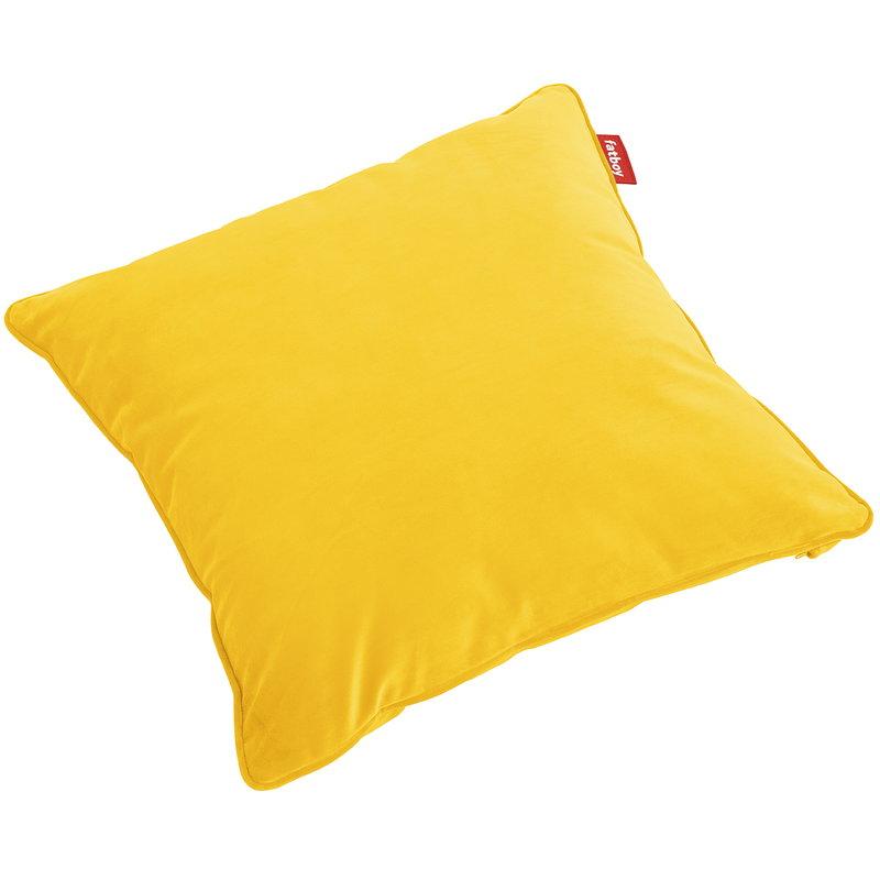 Fatboy Square Velvet pillow, maize yellow