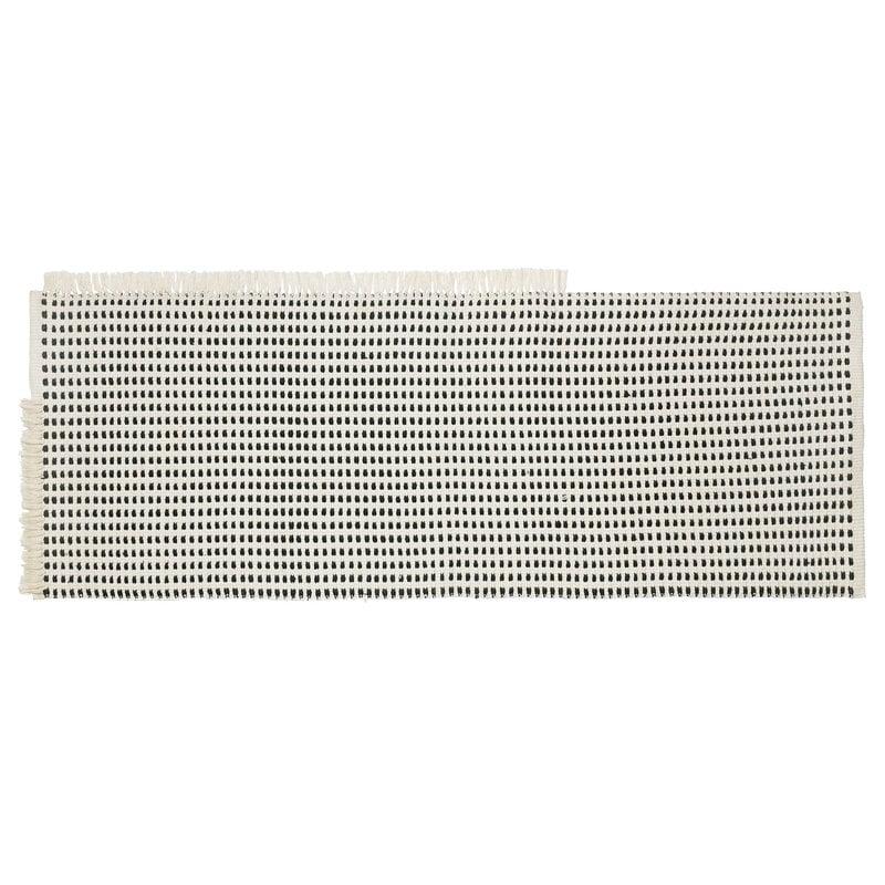 Ferm Living Way matto, 70 x 180 cm, luonnonvalkoinen - tummansininen