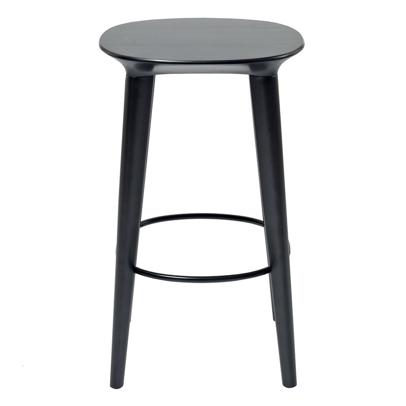 Minus Tio Audrey bar stool 65 cm, black stained birch