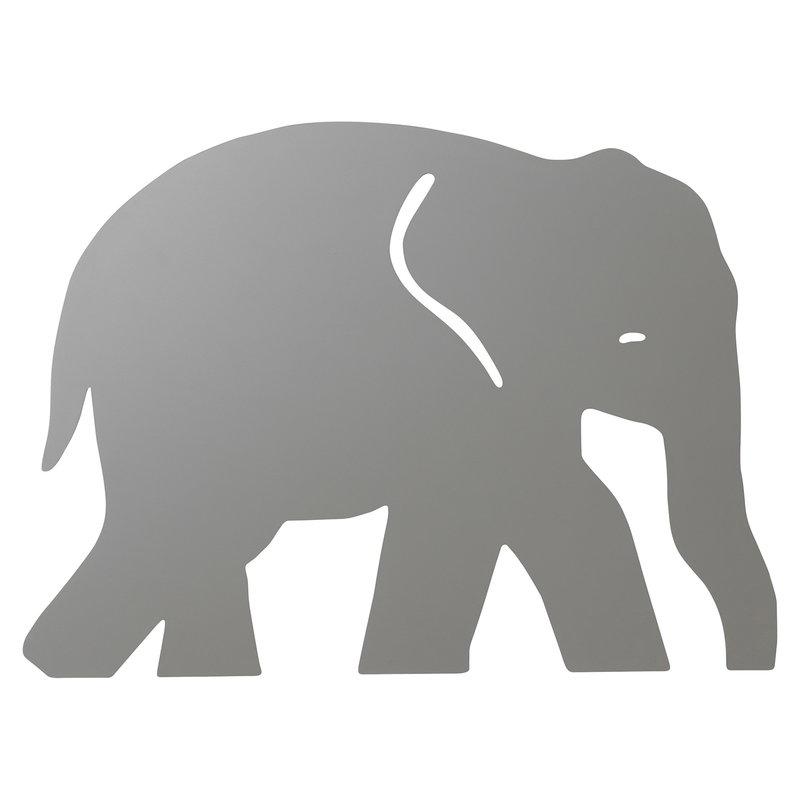Ferm Living Elefantti seinävalaisin, lämmin harmaa
