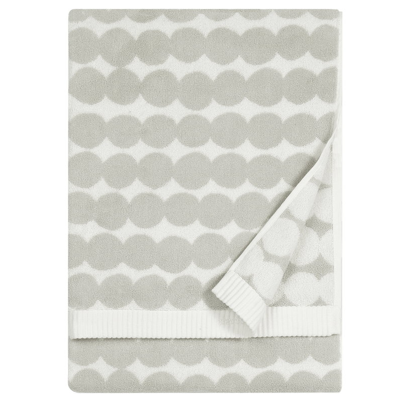 Marimekko Räsymatto bath towel, white - grey