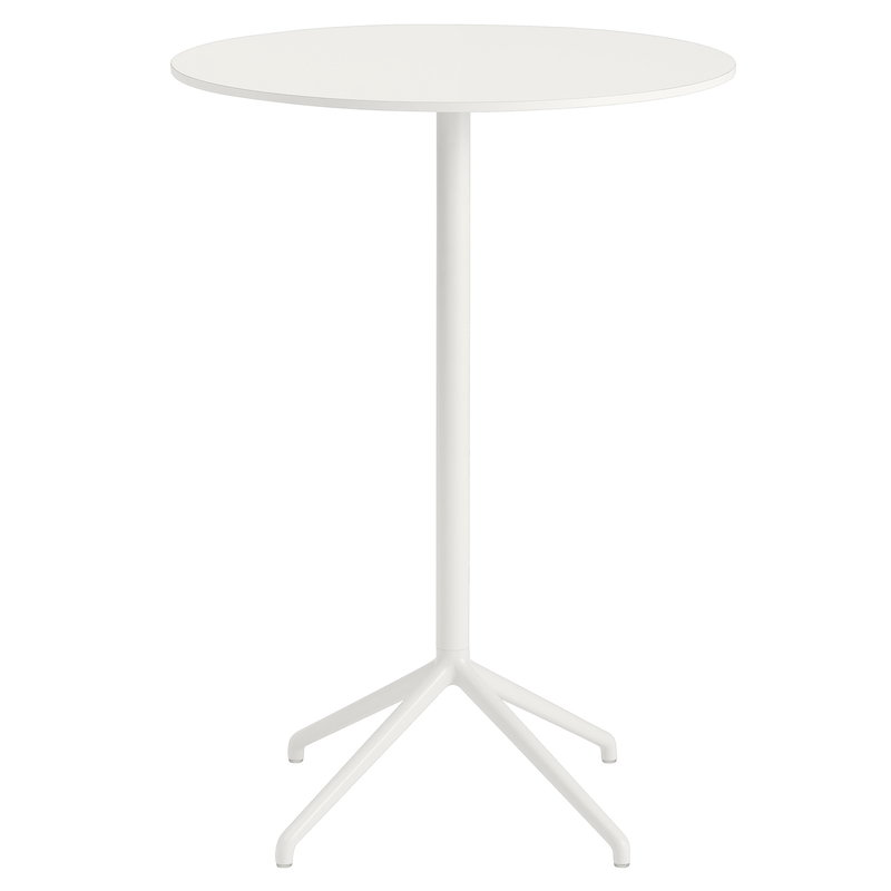 Muuto Still Cafe bar table 75 cm, h. 105 cm, white