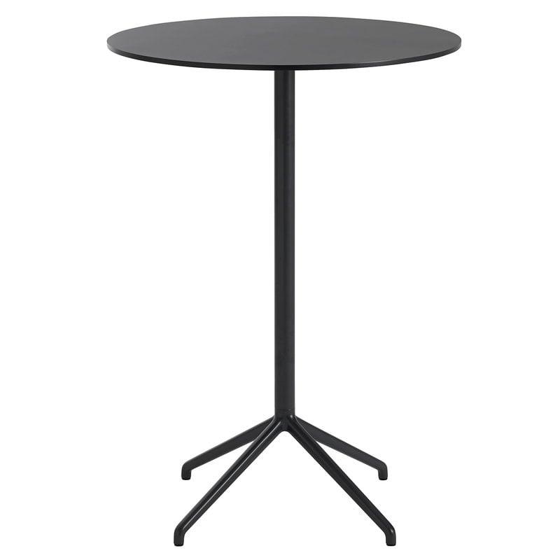 Muuto Tavolo da bar Still Cafe 75 cm, alt. 105 cm, nero