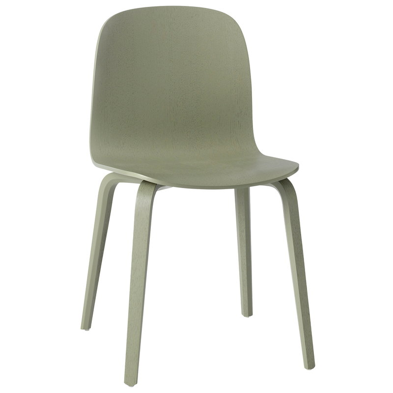 Muuto Visu chair, wood frame, dusty green