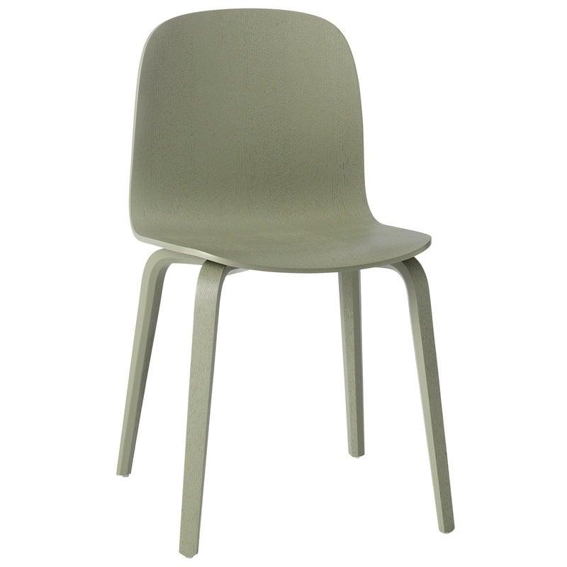 Muuto Visu tuoli, puujalusta, dusty green