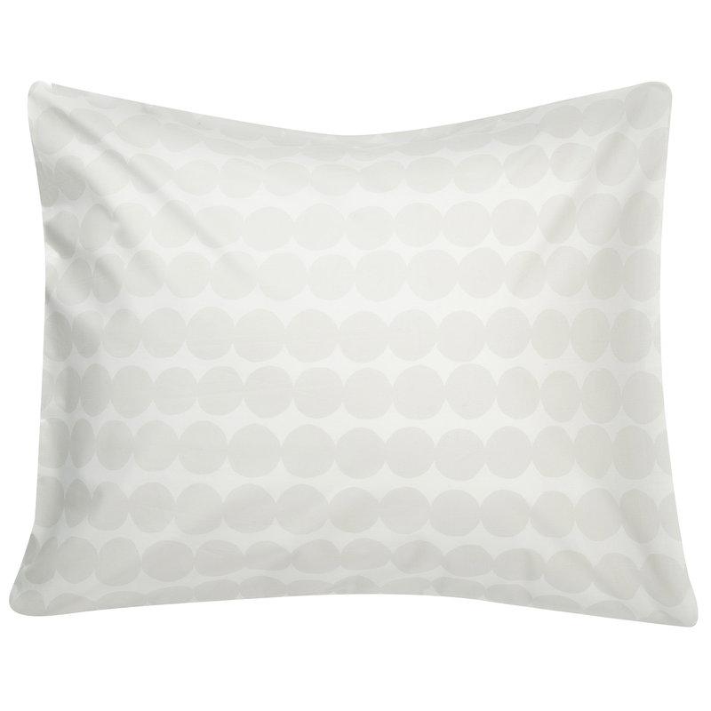 Marimekko Räsymatto tyynyliina, valkoinen - harmaa