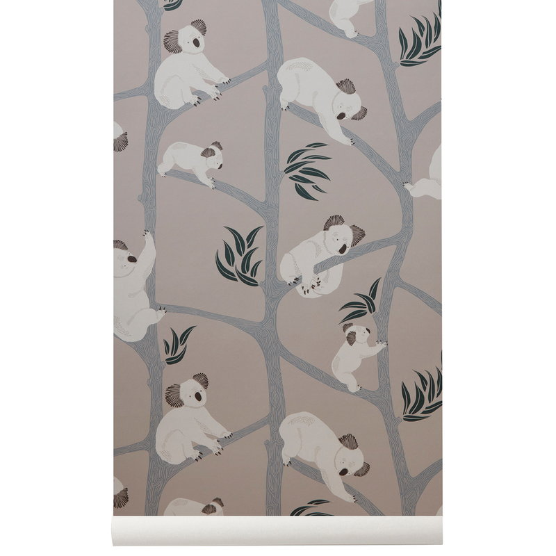 Ferm Living Koala wallpaper, grey