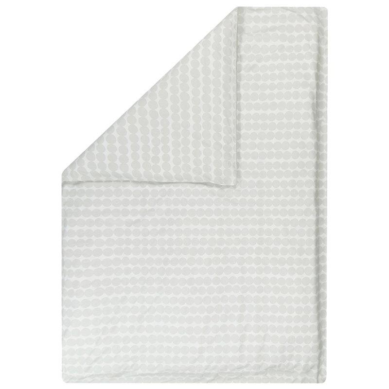 Marimekko Räsymatto pussilakana 150 x 210 cm, valkoinen - harmaa