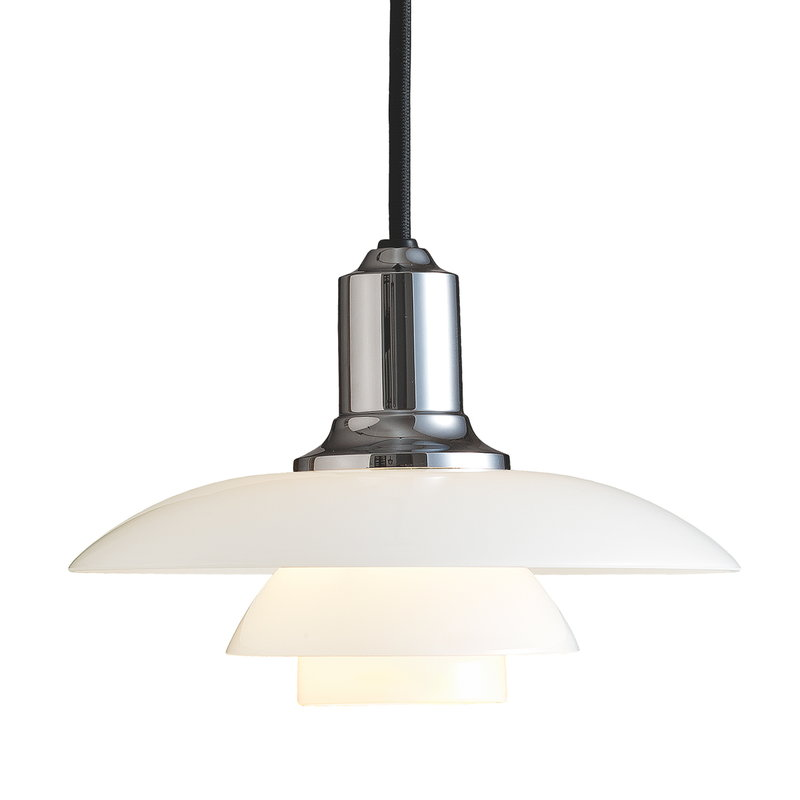 Louis Poulsen PH 2/1 pendant, chrome plated