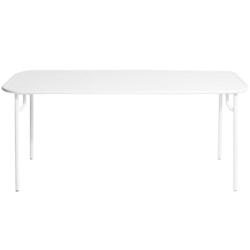 Petite Friture Tavolo Week-end 85 x 180 cm, bianco