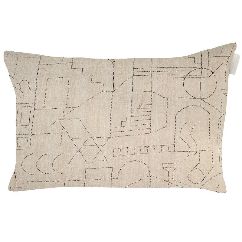 Saana ja Olli Unien talo tyynynpäällinen, 40 x 60 cm, beige - musta